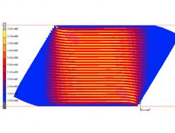 Stress contours of carbon fiber under load